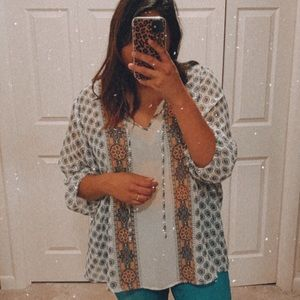 OLD NAVY floral print tunic plus size XXL